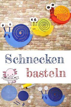 Schnecken basteln mit Kindern Slugs make things easy with children. The snail. Kindergarten Activities, Preschool Crafts, Crafts For Kids, Arts And Crafts, Papier Kind, Origami Easy, Creative Activities, Woodland Party, Child Love