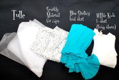 Frozen Elsa Dress   ... dress/skirt, even a xxxl t shirt might do. Mine here is an adult dress