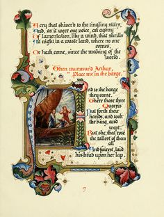 Three Queens from Alberto Sangorski's illuminated manuscript of Tennyson's Morte d'Arthur