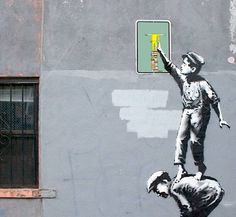 Scarabottolo la fa a Banksy http://affiche-fineart-shop.it/collections/guido-scarabottolo/products/guido-scarabottolo-80