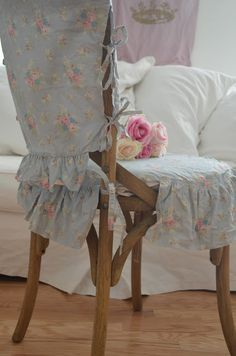 Simply me: Really cute shabby chair cover~❥