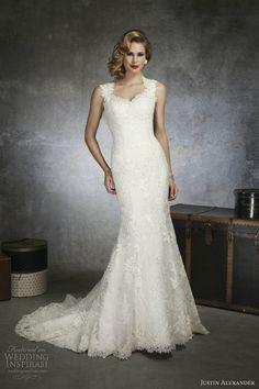 Justin Alexander bridal spring 2013 : #weddingdress style 8656 #queen anne venice lace organza #mermaid gown