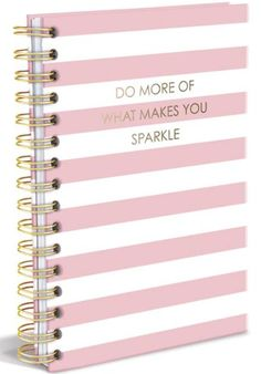 Do More Of What Makes You Sparkle Journal in Pink Stripes
