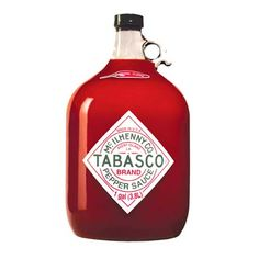 Never run out of TABASCO®! Gallons are available in all 7 of our Pepper Sauce flavors – for the serious TABASCO® lover. Tabasco Hot Sauce, Tabasco Pepper, Chili Sauce, Hot Pepper Sauce, Red Sauce, Fermented Jalapeno Hot Sauce Recipe, Hot Sauce Recipes, Gourmet Recipes, Graham