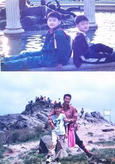 LeeJongSuk with his younger brother and father
