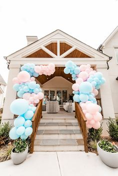 Gender Reveal Ballons, Gender Reveal Themes, Gender Reveal Party Decorations, Baby Shower Decorations, Gender Party, Baby Gender Reveal Party, Simple Gender Reveal, Reveal Parties, Party Ideas