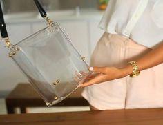satchel bag transparente