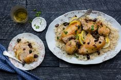 Moroccan Chicken with Lemon and Chicken - TableandDish check out Instagram @tableanddish