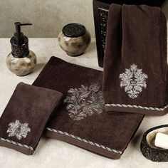 Argosy Embroidered Bath Towel Set by Croscill