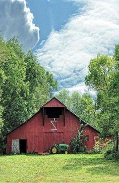 Barn On Beautiful Summer Day