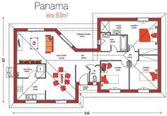 Maison de m2 House Front Design, Cabin Homes, Front Yard Landscaping, Landscape Design, Sweet Home, Floor Plans, Construction, How To Plan, House Styles