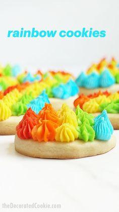 Rainbow Sweets, Rainbow Food, Rainbow Desserts, Good Food, Yummy Food, Fun Food, Tasty, Best Party Food, Frosting Tips