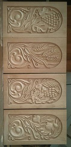 Wood Carving Designs, Wood Carving Patterns, Wood Carving Art, Wood Art, Diy Wood Projects, Wood Crafts, Whittling Wood, 3d Cnc, Chip Carving