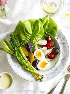 Butterhead salad with homemade salad cream: salad doesn't have to be boring. Butterhead or English round lettuce makes a lovely base for this retro salad. Homemade salad cream makes it extra special