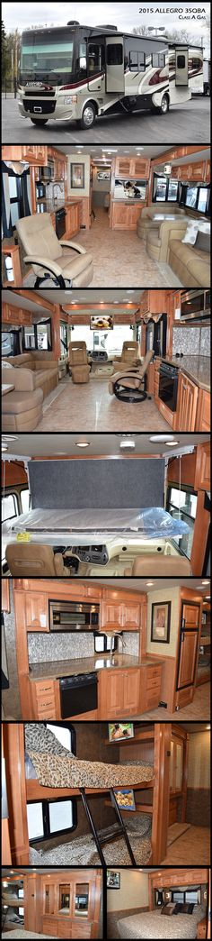 2015 Tiffin Motorhomes ALLEGRO 35QBA Class A Gas Now in its 44th year of production, the Allegro continues its legacy as a gateway to the open road
