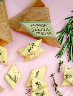 Parmesan Kräuter Cracker   Thermomix Rezept   waseigenes.com