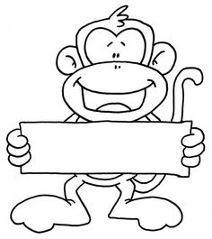 monkey holding sign  @Erin Riebold-Upchurch  (Lately finding lots of monkey stuff for you)