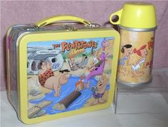 Vintage Flintstones Lunch Box and Thermos
