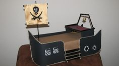 DIY tute for making a pirate ship cupcake stand