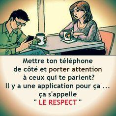 Le respect. #citation #citationdujour #proverbe #quote #frenchquote #pensées #phrases #french #français