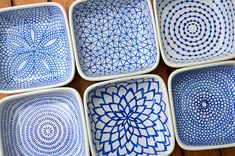 DIY hand-painted ceramic tealight holders by funnelcloud rachel, via Flickr