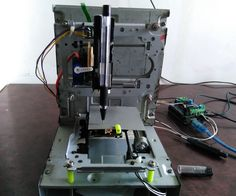 How to Make Mini CNC 2D Plotter Using Scrap DVD Drive, L293d Motor Shield