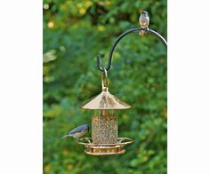 Classic Perch Venetian Bronze Bird Feeder