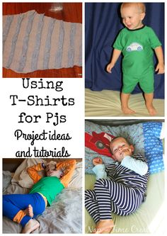 I LOVE making pajamas… its no secret… I've posted loads of pj projects over the years. Today I'm going to tie together my very first pj project and my most recent one. Let's talk about different ways of upcycling t-shirts to pjs for kids. And usually I'm talking about old shirts my husband is done …