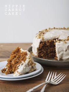 Hippie Carrot Cake (Vegan) + Simple Recipes for Joy Giveaway | picklesnhoney.com