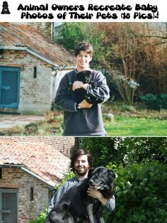 Animal Owners Recreate Baby Photos of Their Pets (18 Pics)