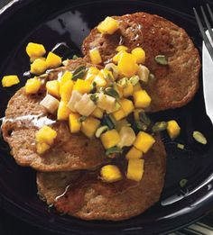 Spiced Coconut Pancakes with Tropical Fruit - Bon Appétit