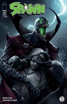 Spawn #280 (2017) Scott's Collectables & Scorpion Comics Exclusive Variant Cover by Francesco Mattina & Todd McFarlane