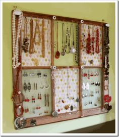 Picture frame jewelry holder pinterest home