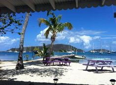 Trellis Bay and our boat from De Loose Mongoose