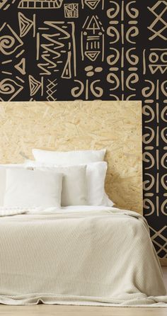 If you want to connect to your history and heritage, then adorn your bedroom walls with this amazing Ancient Drawings wall mural. An utterly unique pattern wallpaper from Wallsauce.com, we think that it would make a fantastic bedroom feature wall. #doodlewallpaper #bedroominspiration