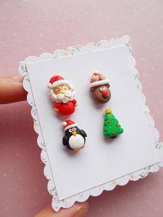 Set de pendientes de Navidad Santa pendientes pendientes