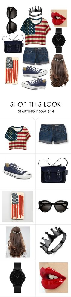 """Forth of July"" by xxilovebunniesxx ❤ liked on Polyvore featuring WithChic, Aéropostale, Converse, ASOS and CLUSE"