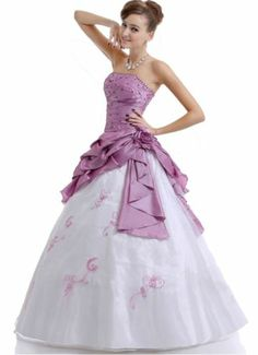Faironly Strapless Taffeta Organza Prom Gown Evening Dresses Stock Size 6-16 Hot