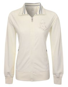 Nike Womens Cream 450657 Zip Up Tracksuit Top Size XS Made out of 100% polyester. 2 front zipped pockets. Ribbed elasticated cuffs and hem. Cream embroidered Nike swoosh stitched above the left cuff. Cream embroidered badge stitched onto the left side of the chest.  #Nike #Sports