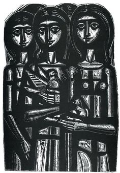 Ψηφιακή Πλατφόρμα ΙΣΕΤ : Artists - Tassos A. [Artworks]. Girls with Doves. 1970.