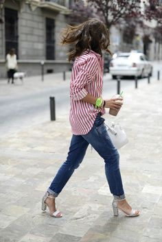 Ideas How To Wear Jeans With Heels Style Inspiration Look Street Style, Street Chic, Style Outfits, Casual Outfits, Mode Style, Style Me, Casual Chic, Passion For Fashion, Love Fashion