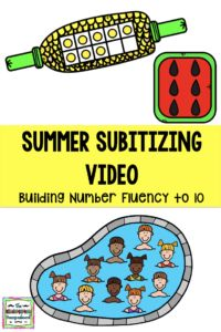Subitizing or number fluency is a necessary kindergarten math skill! This free video will help kids practice subitizing in a fun and engaging way!