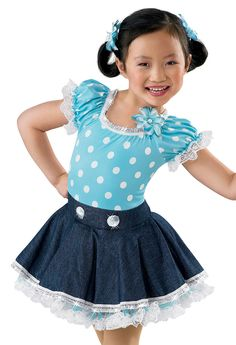 Girl's Polka Dot Denim Dress; Weissman Costumes(thank god I'm a country girl)