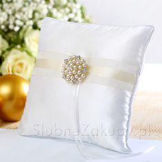 PODUSZKA Exclusive Pearls Złota Elegancja #slub #wesele #sklepslubny #slubnezakupy #dekoracje Pearls, Beads, Gemstones, Pearl