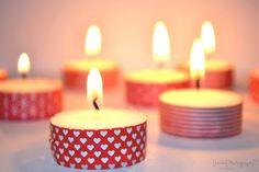 Decorar con velas y #washitape
