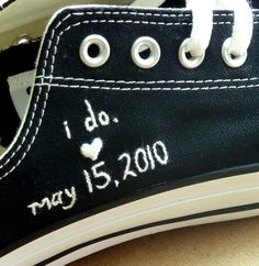 Wedding Chucks!-why not do some for a Bat Mitzvah?