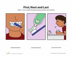 Worksheets: First, Next, Last 2