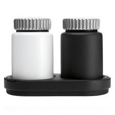 Salt & Pepper Mills. With a stainless steel swivel top and an adjustable ceramic grinder, these salt and pepper mills deliver flavor in refined form. Their rubber and powder-covered aluminum base can be separated for easy cleaning. Can be purchased individually or as a set. $189.00
