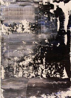 abstract N° 1060, Koen Lybaert, oil on paper, #art