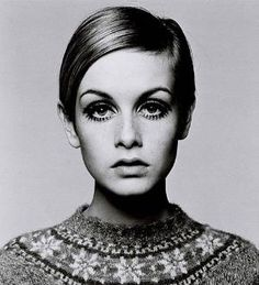 Thank you Twiggy for making a long face and big forehead cool. by marie